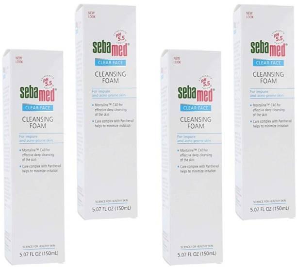 Sebamed Clear Face Foam  Pack 150 x 4 Face Wash
