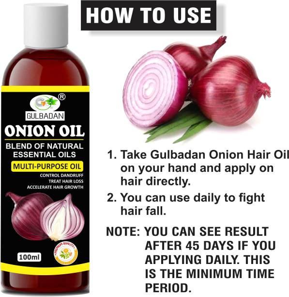 GULBADAN 100% Pure Red Onion Oil Hair Oil