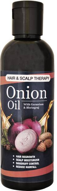 Rudrani Premium & Organic Onion Hair Oil With The Blend Of 14 Natural Ingredients & Onion Extract for Hair Growth, Hair Fall Treatment, Anti Dandruff & Prevents Hair from Greying Hair Oil