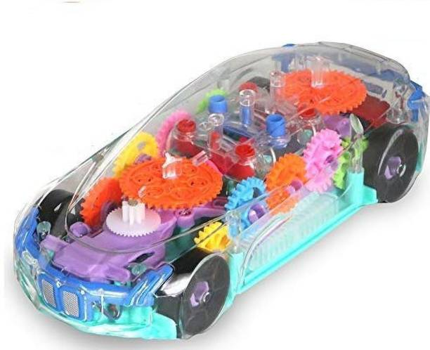 TUKAMCHA High Quality 360 Degree Rotation, Gear Simulation Mechanical with Sound & Light Car for kids