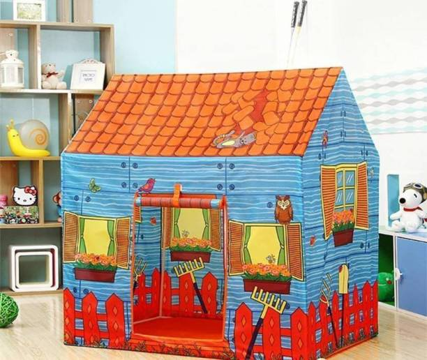 srenterprise Kids Light Weight, Water and Fire Proof Farm House (Multicolor)