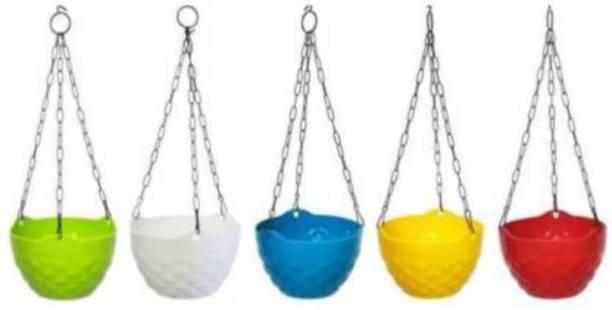 GTB plastic hanging flower pot home/garden/railing fp-03-5PC Plant Container Set