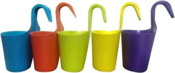 GTB plastic hanging flower pot home/garden/railing fp-04-5PCJH Plant Container Set