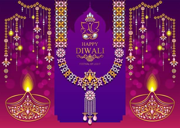 happy diwali with ganpati |festival poster|diwali poster|poster for diwali|diya poster|dia poster|rangoli poster|poster for home,gym,office||sticker paper poster Paper Print