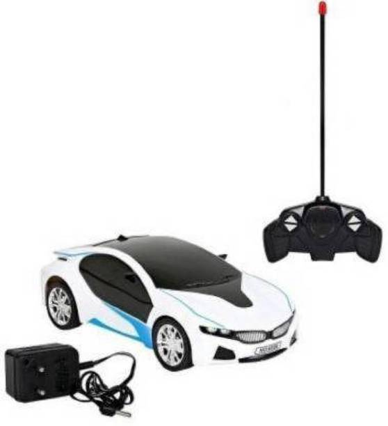 Quickcart Trends Remote Controlled Rechargeable Famous car (White, Black)