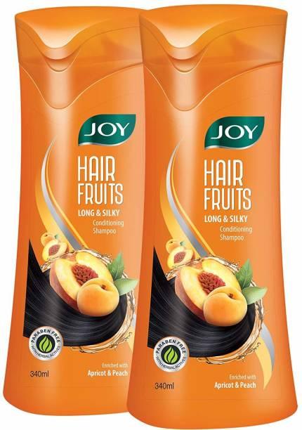 Joy Hair Fruits Long & Silky Conditioning Shampoo (Pack of 2 x 340 ml)