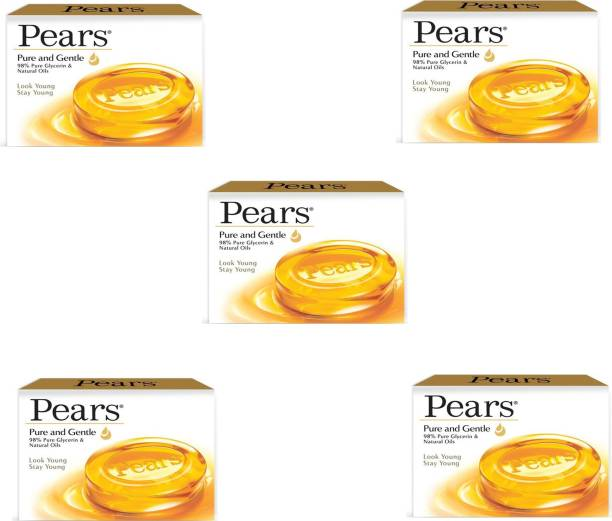 Pears Pure & Gentle Bathing Bar (5x 75 g)