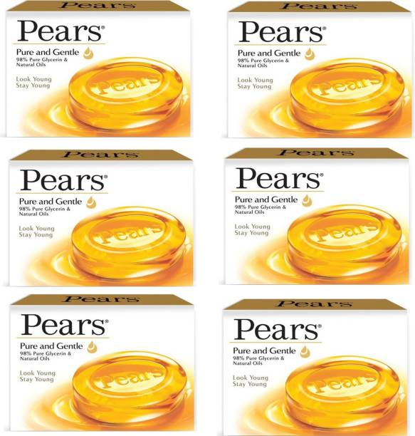 Pears Pure & Gentle Soap Bar (6 x 125 g)