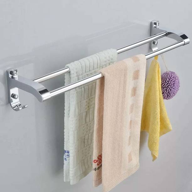 Frap New Look Double Rod Towel Rod Silver Towel Holder
