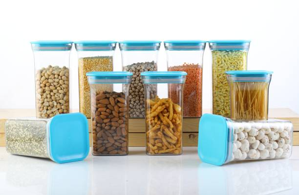Flipkart SmartBuy New Premium Quality Round Shape Unbreakable Sturdy Airtight Transparent Jar / Grocery Container / Storage Container / Container sets / Storage Jar / Containers Combo / Masala Boxes / Matka Set / Matka Container / Freezer Safe Idle for Kitchen Storage Box / Container For Tea, Coffee, Sugar, Food, Grain, Rice, Pasta, Pulses, Spices Container Set  - 1100 ml Plastic Grocery Container
