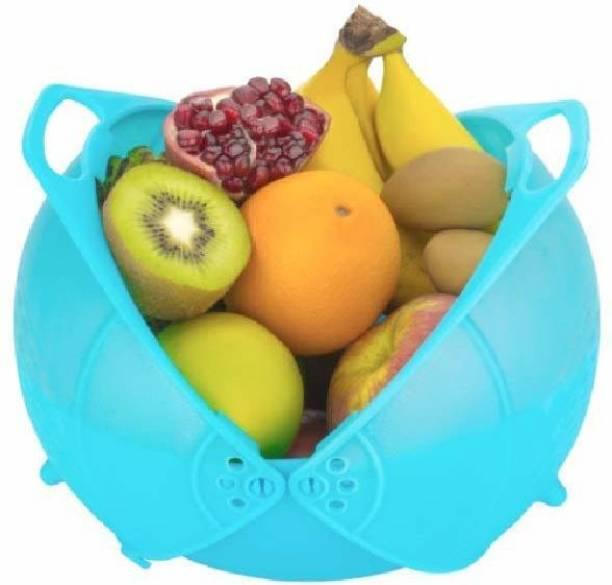 Homeleven Collapsible Smart Washing Bowl Strainer Cum Basket for Fruits, Vegetables, Rice Collapsible Colander
