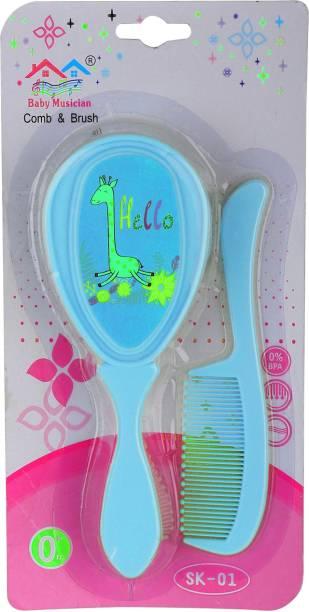 First Trend Com & Brush Set For Baby Girls & Boys ( Blue )