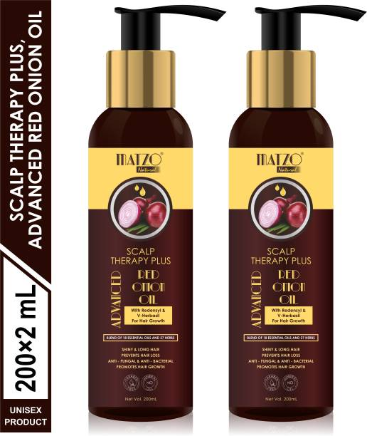 Matzo Natural Scalp Therapy plus, Advanced Red Onion Oil With Redensyl For Hair Growth, Mineral Oil Free, Paraben Free Hair Oil