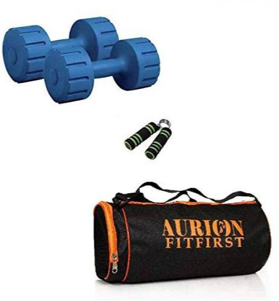 Aurion Home Gym Dumbbells With Accessories -combo3 Gym & Fitness Kit