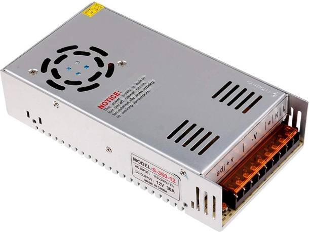 TRP Traders 12V 30A 360W Power Supply Transformer for LED Strips Lighting Worldwide Adaptor