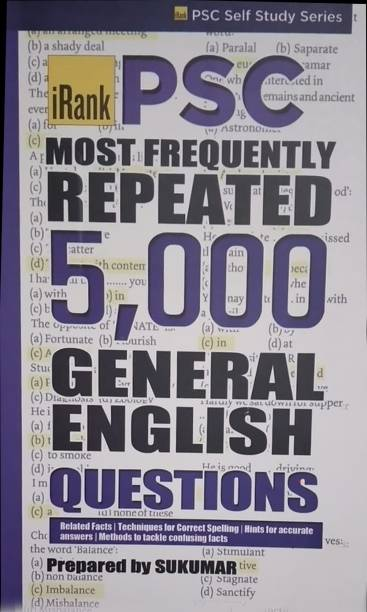 Psc Repeated 5000 General English Questions