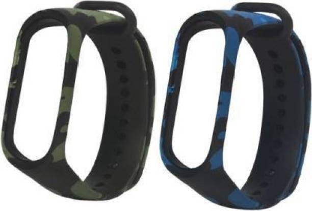 Vooy Camouflage Combo Band 3 Strap - Green & Blue Smart Watch Strap Smart Watch Strap