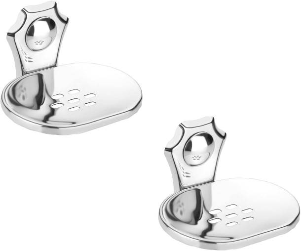 iSTAR Stainless Steel Soap Dish/Soap Stand/Cage (Silver Pack of 2)