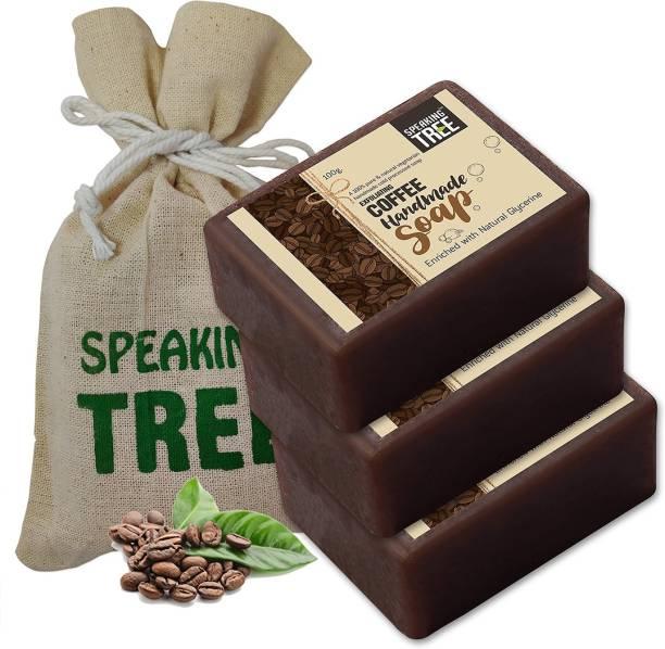 Speaking tree Exfoliating Coffee Handmade Soap - 100gms each (Pack of 3)
