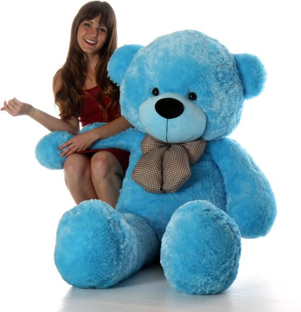 KIDZ Zone 3 feet Jumbo Blue Teddy Bear Best For Gift  - 90 cm