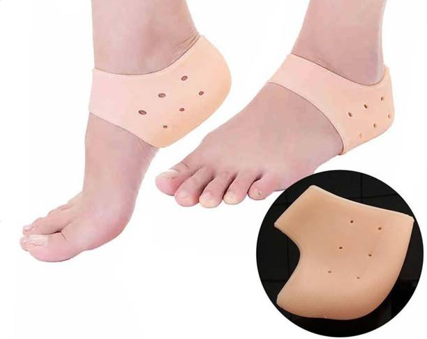ROYAL SHOPPE Silicone Gel Heel Pad Socks for Pain Relief for Men and Women Heel Support