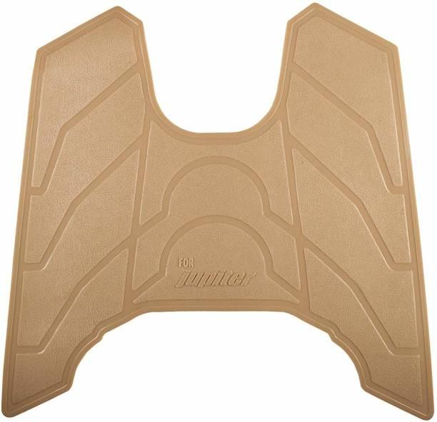 Gadget Deals mat Premium Quality Foot Mat Light Brown TVS Jupiter Two Wheeler Mat