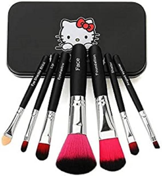 Katti Del Coco Set of Professional Makeup Brushes Kit (Pack of 7) BLACK
