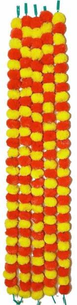BS AMOR Artificial Marigold Flower Mala Garland