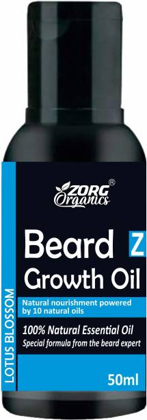 Zorg Organics Beard Growth Oil  Lotus Blossom   100% Natural Hair Oil