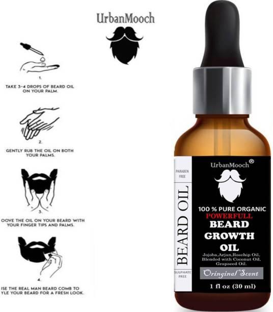 UrbanMooch PowerFull & Moustache Beard Growth Oil Hair Oil