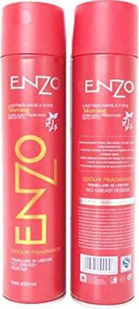 enzo Hair Spray (Pack of 2) Hair Spray (840 ml) Hair Spray