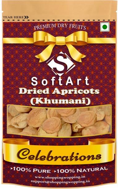 Soft Art Celebrations Dried Organic Apricot (Khumani) (Grade - Big Size) Vacuum Pack Apricots