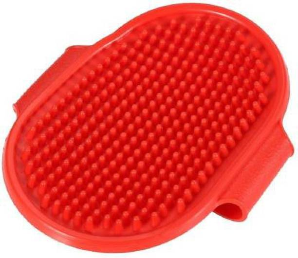 SAWAY Grooming Pet Shampoo Round Brush, Soothing Bristles Curry Comb for Washing, Professional Quality (Pack of One) Grooming Gloves for Dog, Cat, Horse