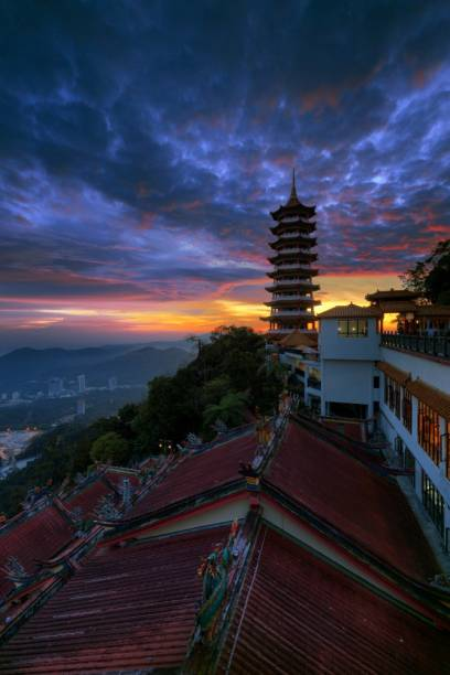 KD sunset chin swee temple Sticker Poster Motivational poster Inspirational poster  Paper Print