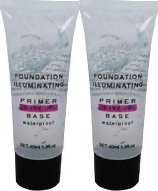 Wingage Foundation illuminating waterproof primer make-up base Pack 2 Primer  - 80 ml