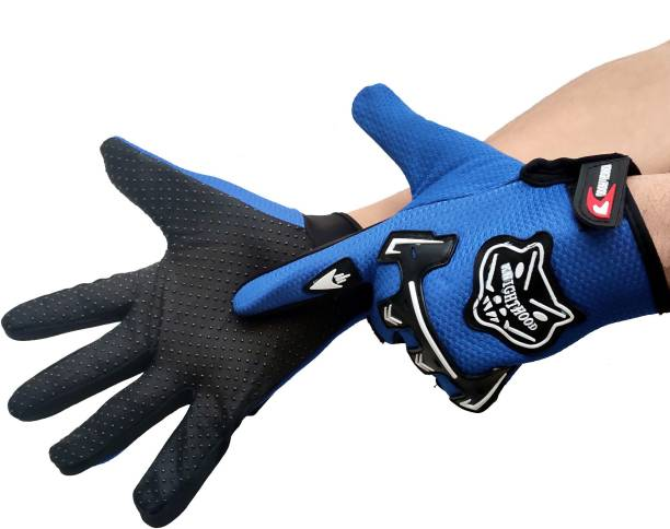 DreamPalace India Gloves Shockproof Foam Padded Outdoor Riding Full Finger Glove For Men Riding Riding Gloves