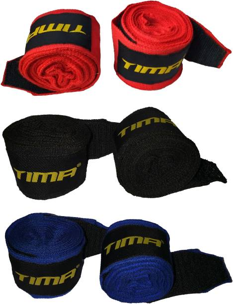 Tima Hand Wraps for MMA & Boxing (3 Pair) Black Boxing Hand Wrap