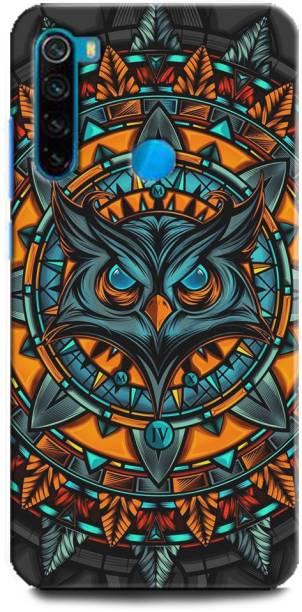 BARMANS Back Cover for Redmi Note 8 / owl, illuminati owl, cool, tranding, bird, fire, fantacy