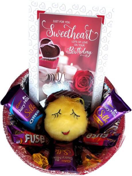 Cadbury Special Birthday Gift Hamper For Your Sweetheart | Chocolates | Card | Emoji Combo