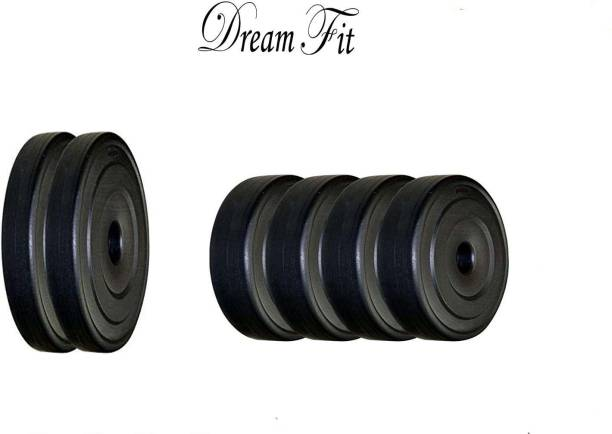 DreamFit 40 Kg SPARE WEIGHT ( 5 Kg x 4 PLATES , 10 Kg X 2 PLATES ) PVC Black Weight Plate