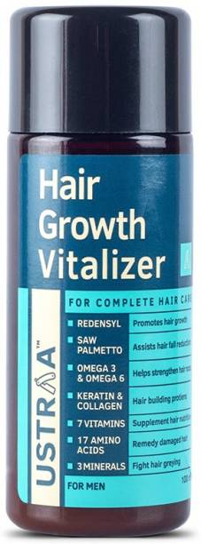 USTRAA Hair Growth Vitalizer - 100ml - Boost hair growth, Prevents hair fall, Delays Hair Greying, With Redensyl and Saw Palmetto Extract, Non-oily serum for complete hair care and nourishment