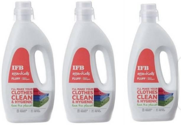 IFB ORIGINAL LIQUID DETERGENT OF 3 BOTTLES OF 1 LITER( 3 LITER) Multi-Fragrance Liquid Detergent