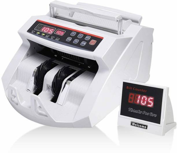 VMS Essentials Currency, Money Counting Machine with UV, MG Counterfeit Bill Detection, Worldwide Bill Counting Machine with External Display (CCM01) Note Counting Machine