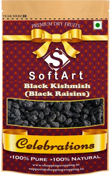 Soft Art Celebrations (Black Kishmish) Black Raisins Vacuum Pack Raisins (100 grams) Raisins