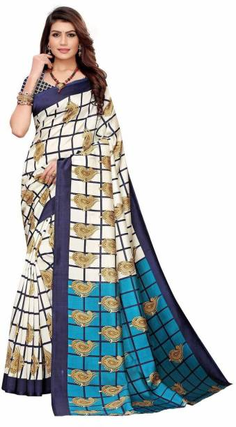 A to z-cart-women's-art-silk-printed-saree-palav-keri-nevy-navy-free-size