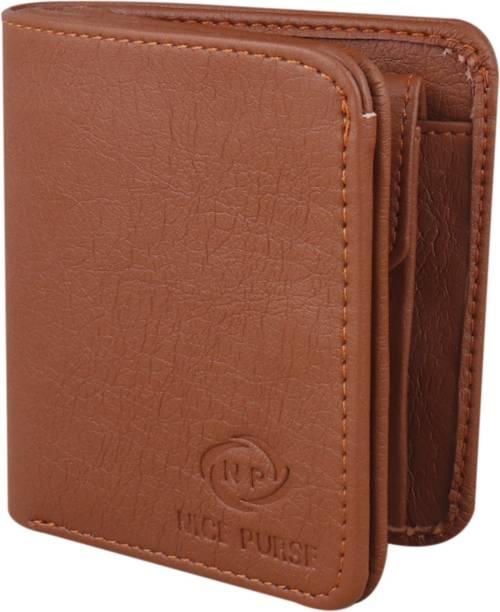 Nice Purse Men Tan Artificial Leather Wallet
