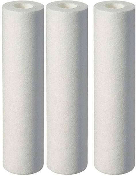 Sauran RO Filter Cartridge 5 Micron 10 inches pc of 3 Solid Filter Cartridge