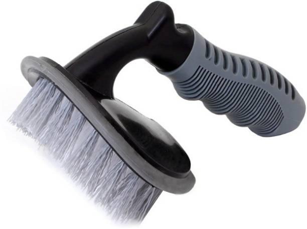 eliteauto Tire Cleaning Brush for Cleaning Car Wheel Hub, Wheel Tire, Rim Scrub Brush Hub Clean Wash Useful Brush Car Truck Motorcycle Bike Washing Cleaning Tool 0 L Wheel Tire Cleaner