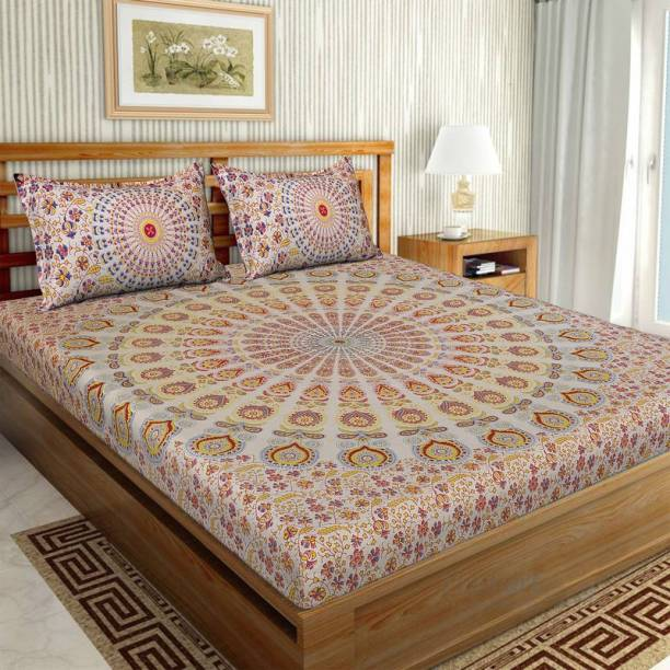 UNIQCHOICE 104 TC Cotton Double Printed Bedsheet
