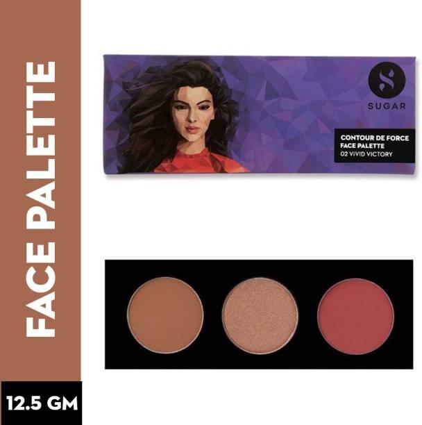 SUGAR Cosmetics Contour De Force Face Palette - 02 Vivid Victory